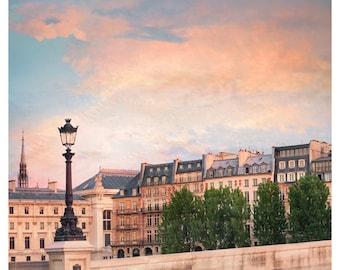 Paris photo City view print, Cityscape wall art French decor Square poster 12x12 16x20