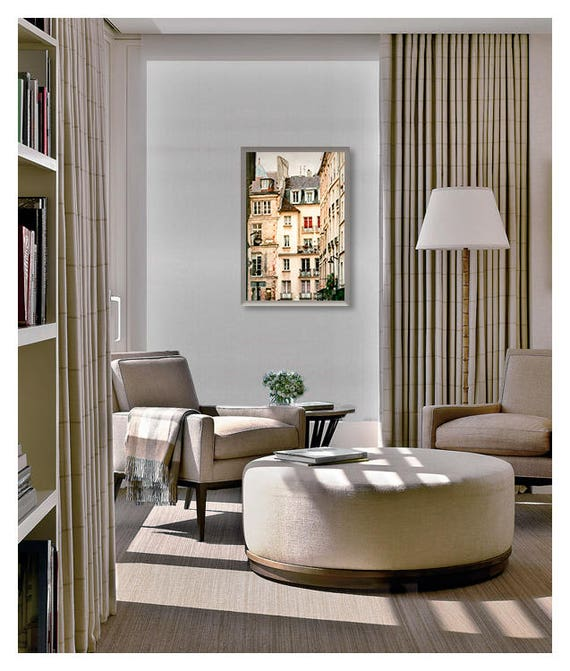 Paris Architecture print, Large wall art Living room, City prints,  Apartment decor Vertical French poster 24x36 Architectural photography