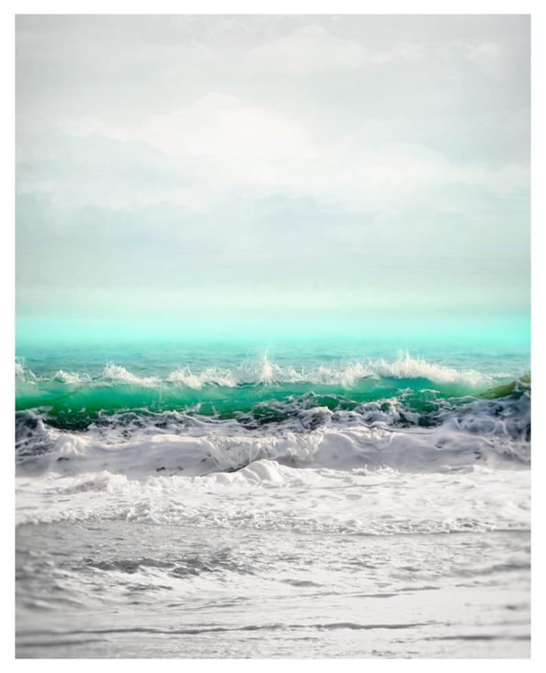 Sea art print Extra large wall art Turquoise water Surf art seascape oversized art 30x40 40x50 Ocean photography Coastal wall art