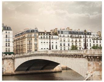 Paris Architecture print, Large City art Parisian Cityscape photo, Beige wall decor 11x14 16x20 24x30