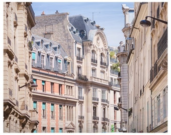 Paris print City art Architecture Posters and prints, Large wall art Parisian photography French cityscape 11x14 16x20