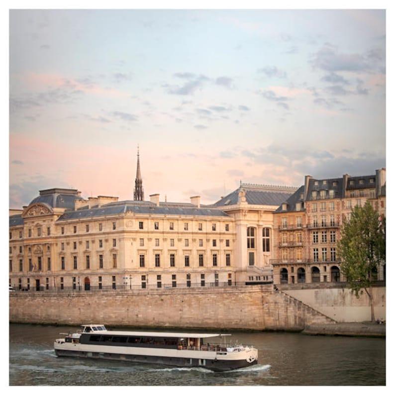Paris City art print Paris Cityscape wall art Square poster image 0