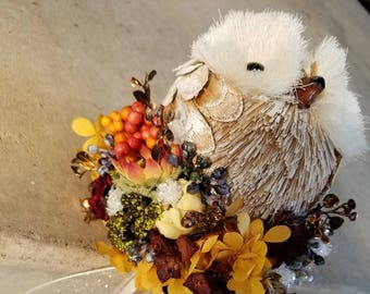 Fall Owl Flower Girl Pom Wand One-of-a-Kind