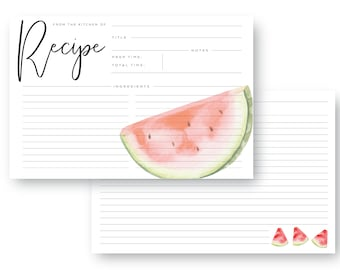 The MayPearl - Watermelon Recipe Card