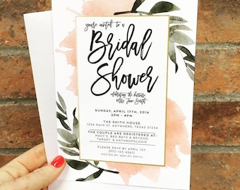 The Delilah - Botanical Bridal Shower Invites