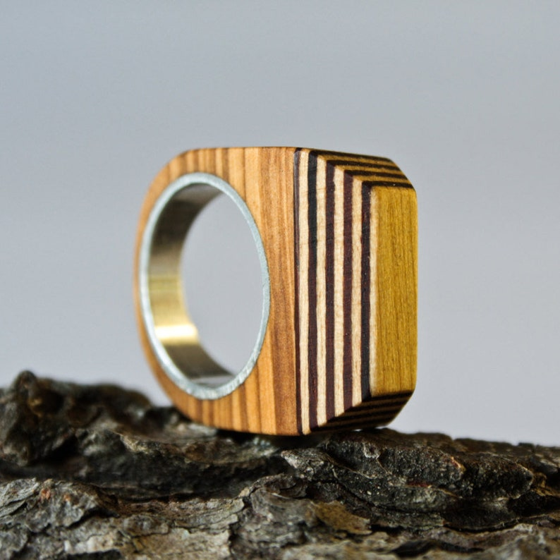 Wood ring Size 7,5 US