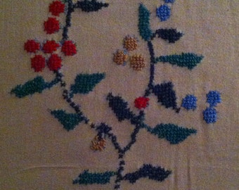 Vintage Embroidered Table Cloth