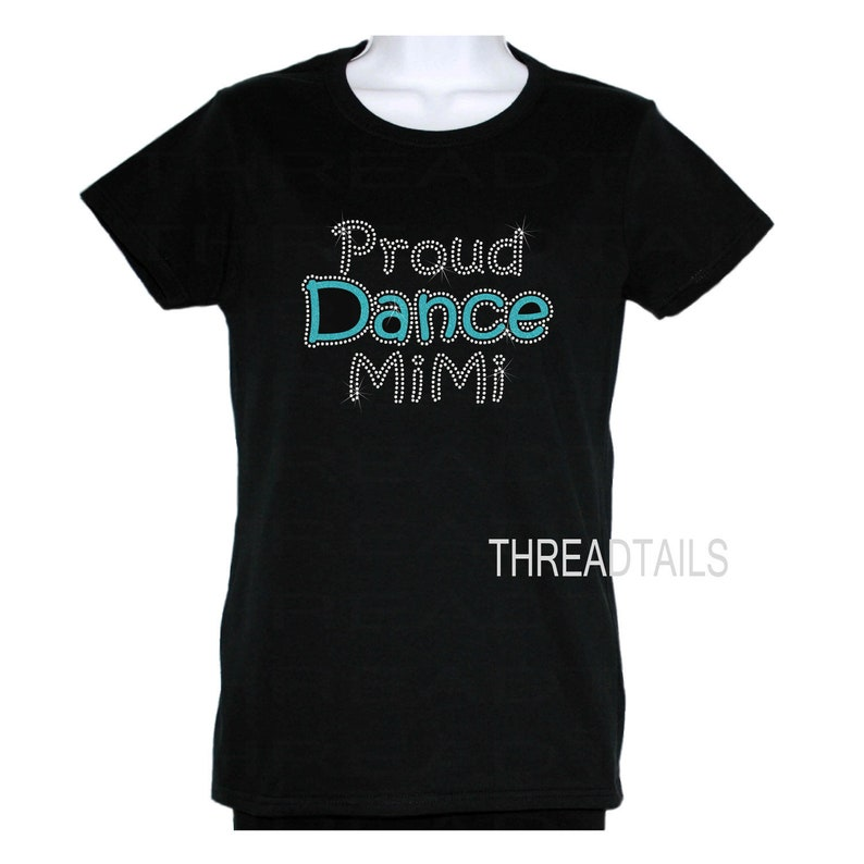 5d6aba0d9 Proud Dance Mimi Glitter and Rhinestone T-shirt for | Etsy