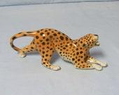 Aelteste Volkstedt porcelain Hunting Leopard Jaguar figurine Unterweissbach Germany Volkstedter