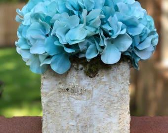 Blue Hydrageas, Artificial Flower Arrangement, Flower Centerpiece