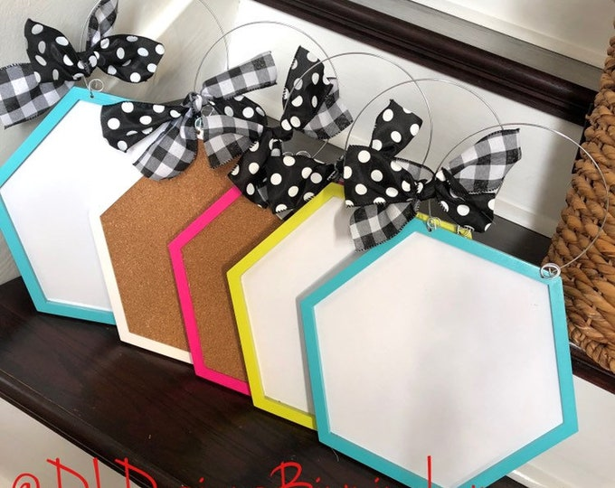Teacher door hanger dry erase or corkboard