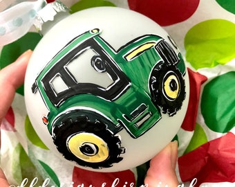 Babys First christmas ornament tractor
