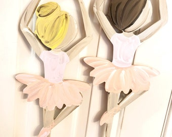 Ballerina door hanger litte girl custom