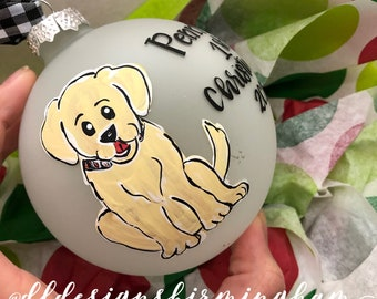 puppys First christmas ornament custom dog Ornament