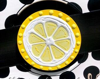 Lemon slice door hanger attachment interchangeable summer