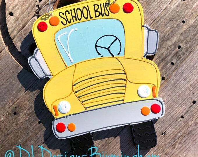 School Bus teacher hanger teacher classroom door