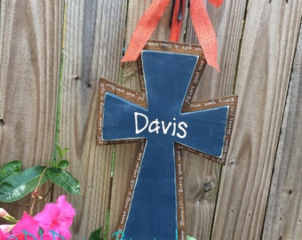 Baby boy rustic hospital cross door hanger nursery decor