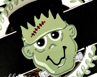 Frankenstein Halloween attachments for wreath door hanger