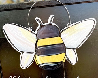 Bumblebee door hanger hand painted