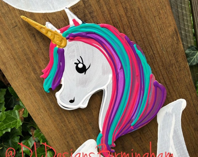 Unicorn door hanger attachment interchangeable