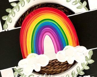 Rainbow door hanger attachment interchangeable hope
