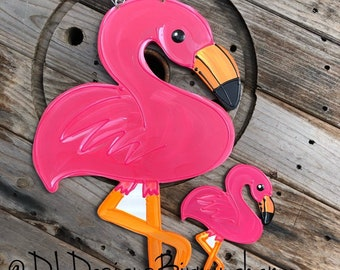 Flamingo summer door hanger