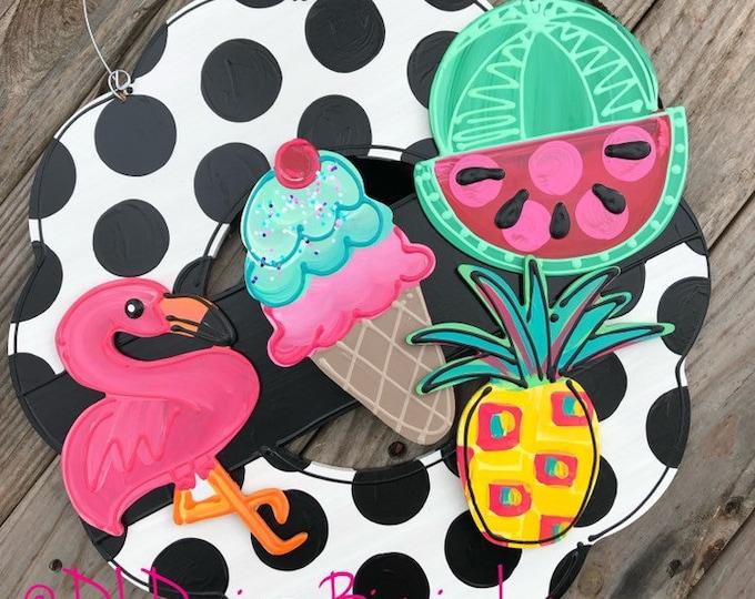 Summer door hanger attachment pineapple, flamingo, watermelon, icecream