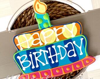 Happy birthday cake door hanger attachments