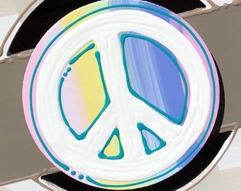 Peace sign door hanger attachment interchangeable hope