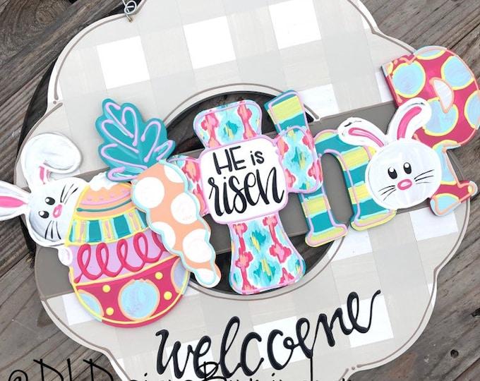 Easter attachments for wreath or cross door hanger