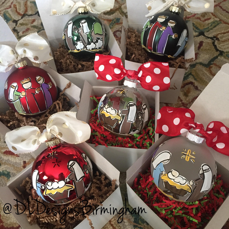 Nativty Christmas ornament with mary joseph baby jesus shepherds ...