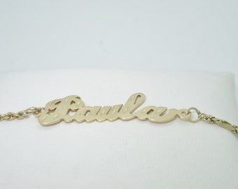 For Paula 14K Solid Gold Ladies Anklet | Size 10.25 A0004