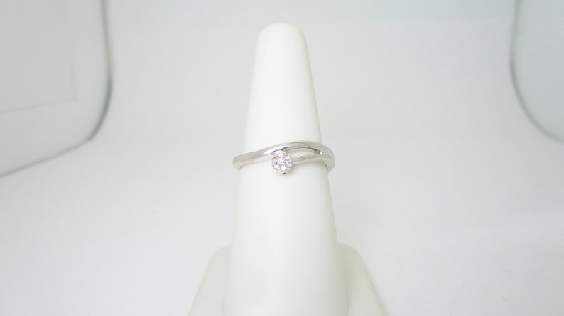 Diamond Promise Solitaire Ring .30 ct in 14k Solid White Gold