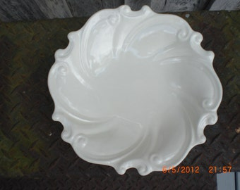 White Swirl Ceramic Bowl