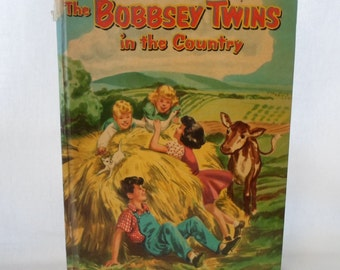 Book, Children's, The Bobbsey Twins, In The Country, Whitman Publishing Co. 1955, Second Edition, Hardcover, No 1530, Collectibles, Vintage