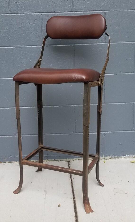 Swell Industrial Drafting Stool Vintage 1950S Machine Age Modern Adjustable Chair Steel Counter Stool Shop Stool Uwap Interior Chair Design Uwaporg