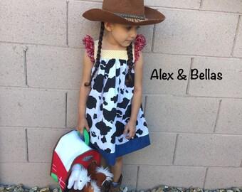 Disney dress, Jessie dres, Girls dress, Dress up, Costume, Cowgirl dress, Toy story dress, Jessie Disney top