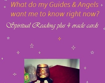 4 Card Oracle Reading - Messages from  your Angels & Spirit Guides (Video or Email Reading)