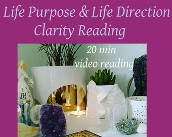 Life Purpose & Life Direction Clarity Reading - 20 min (approx) Video Reading.