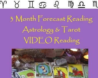 3 Month Forecast Astrology & Tarot VIDEO Reading