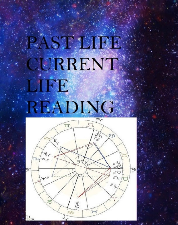 Past Life Current Life Reading Using Your Astrology Chart Etsy