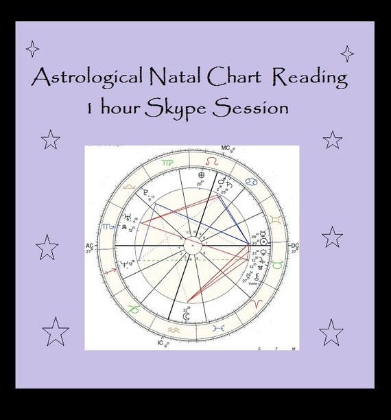 Astrological Natal Chart Reading 1 Hour Skype Session Your Etsy