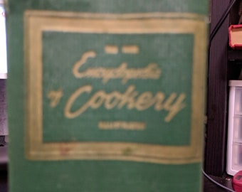 The Encyclopedia of Cookery, 1949. A great gift for cooks and chefs, foodies, and book collectors.