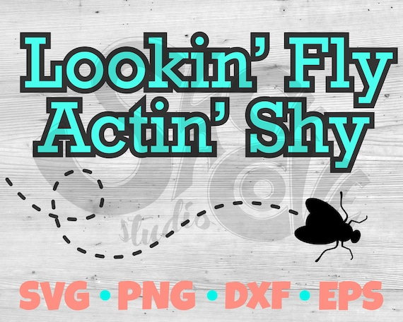 Lookin' Fly Actin' Shy SVG Cut File | Baby shirt or Onesie Vinyl Design | Baby Vinyl Project