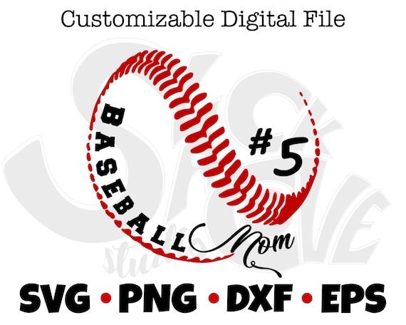 Baseball Mom Cricut SVG Cut File | Baseball Player Gift SVG | Sports Gift SVG