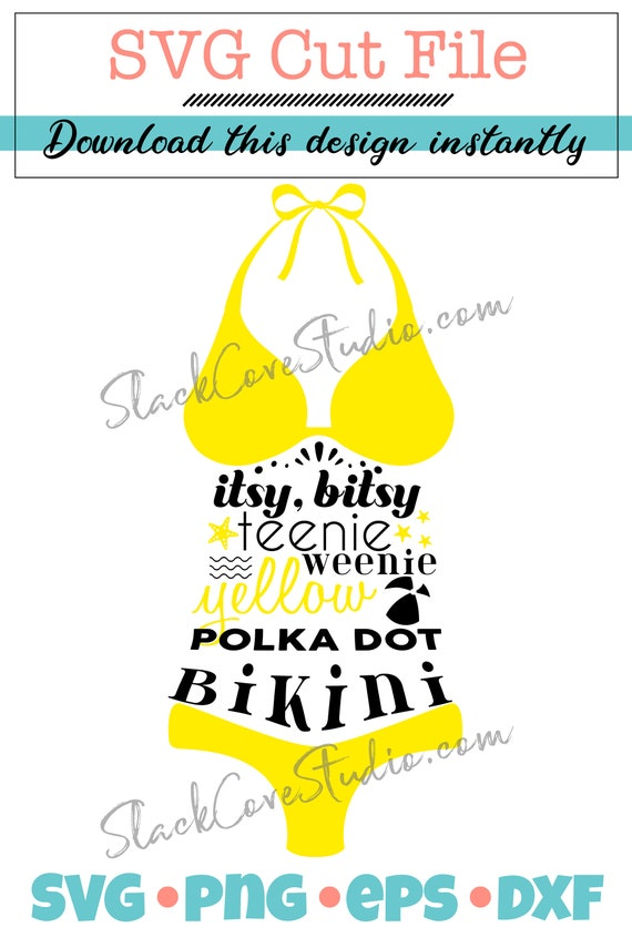 Bikini SVG Cut File | Beach House Decor SVG | Summer Vinyl Design