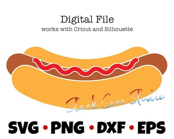 Hot Dog SVG | 4th of July SVG | Food Cut File
