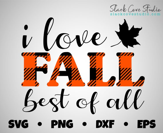 I Love Fall SVG Cut File | Fall SVG Design | Layered Vinyl Buffalo Plaid SVG