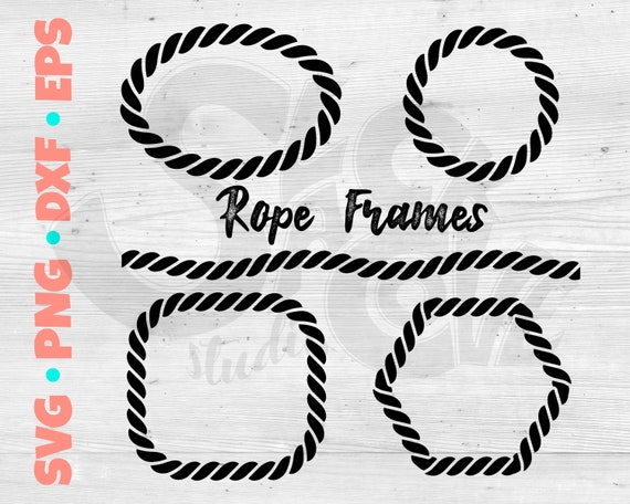 Rope Frames SVG Cut File | Nautical Monogram Frame SVG | Boat Lovers SVG