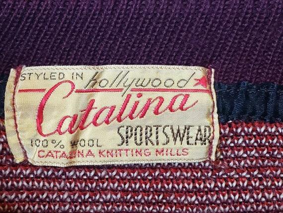 Christmas Catalina Sportswear Sweater Reindeer Wo… - image 2